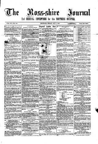 cover page of Ross-shire Journal published on May 5, 1893