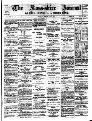 cover page of Ross-shire Journal published on May 25, 1900
