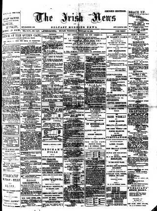 cover page of Irish News and Belfast Morning News published on February 28, 1900