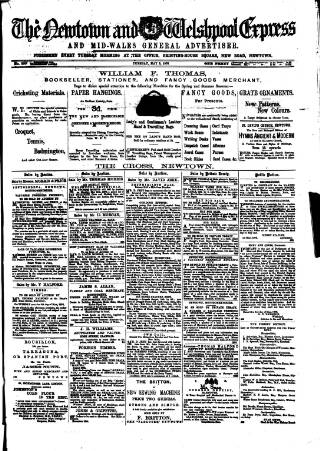 cover page of Montgomeryshire Express published on May 9, 1876