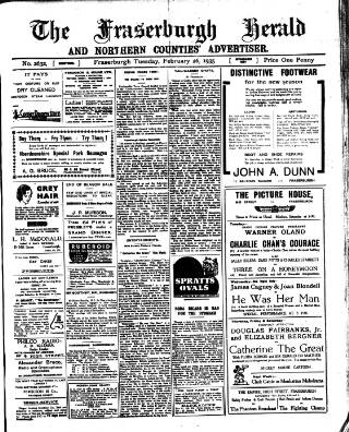 cover page of Fraserburgh Herald and Northern Counties' Advertiser published on February 26, 1935