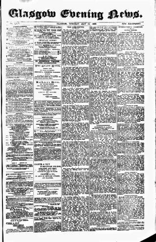 cover page of Glasgow Evening Post published on May 15, 1888