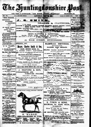 cover page of Hunts Post published on May 22, 1897