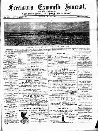 cover page of Exmouth Journal published on May 17, 1884