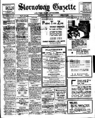 cover page of Stornoway Gazette and West Coast Advertiser published on May 26, 1950