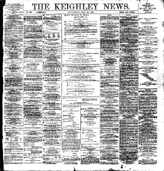 cover page of Keighley News published on May 28, 1898