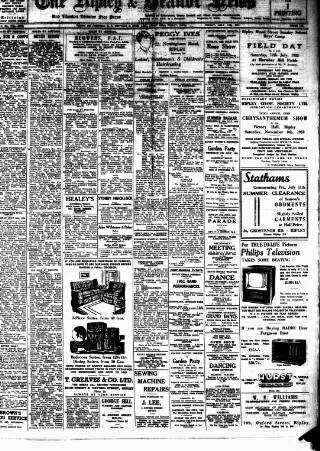 cover page of Ripley and Heanor News and Ilkeston Division Free Press published on July 11, 1952