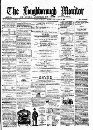 cover page of Loughborough Monitor published on August 8, 1861
