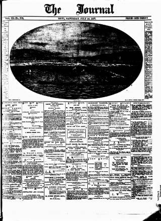 cover page of Rhyl Journal published on July 14, 1877