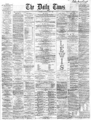 cover page of Northern Daily Times published on July 7, 1860