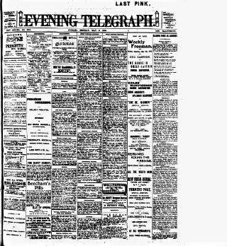 cover page of Dublin Evening Telegraph published on May 9, 1910
