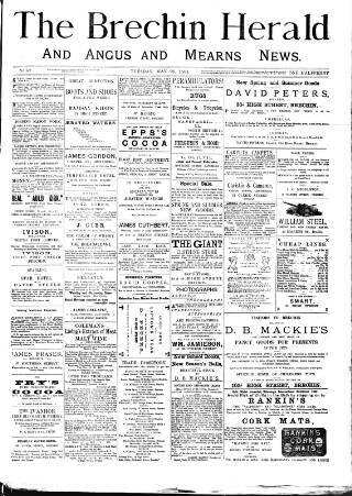 cover page of Brechin Herald published on May 26, 1891