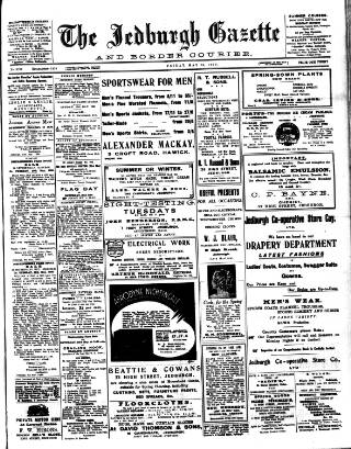 cover page of Jedburgh Gazette published on May 15, 1936