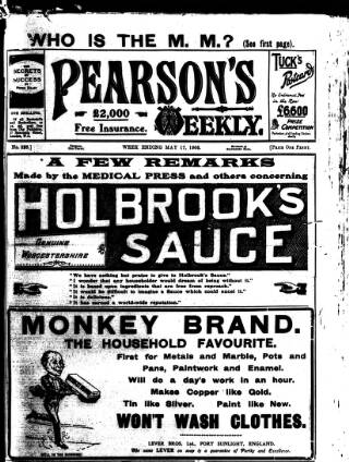 cover page of Pearson's Weekly published on May 17, 1906