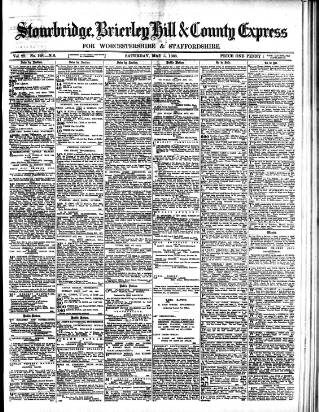 cover page of County Express published on May 5, 1888