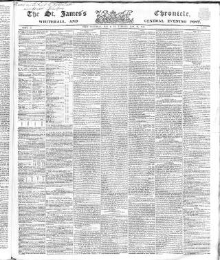 cover page of Saint James's Chronicle published on May 11, 1847