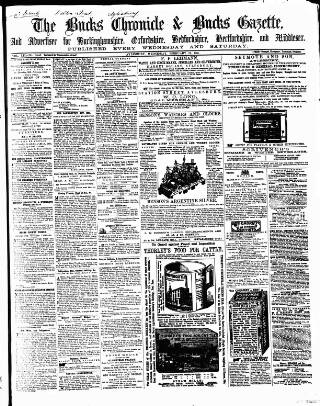 cover page of Bucks Chronicle and Bucks Gazette published on February 25, 1863