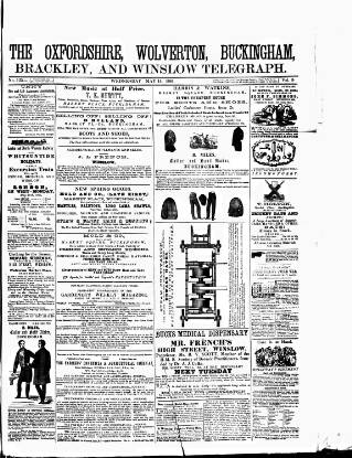 cover page of Oxfordshire Telegraph published on May 15, 1861