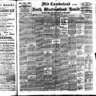 cover page of Cumberland & Westmorland Herald published on August 8, 1908