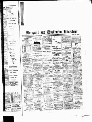 cover page of Maryport Advertiser published on May 15, 1885