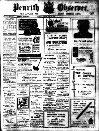 cover page of Penrith Observer published on May 16, 1933