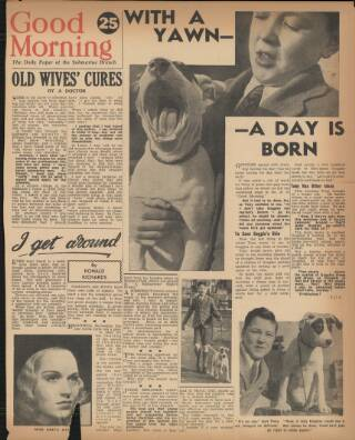 cover page of Good Morning published on May 17, 1943