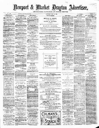 cover page of Newport & Market Drayton Advertiser published on May 29, 1880