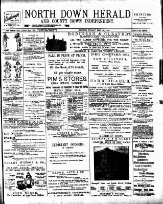 cover page of North Down Herald and County Down Independent published on May 18, 1900