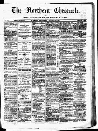 cover page of Northern Chronicle and General Advertiser for the North of Scotland published on February 25, 1891