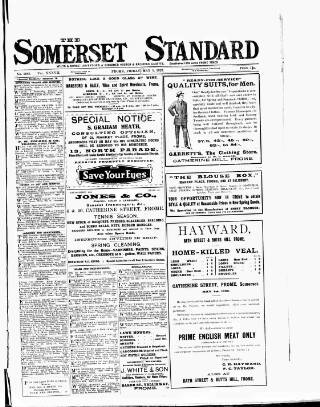 cover page of Somerset Standard published on May 5, 1922