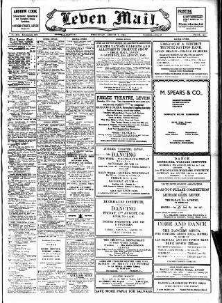 cover page of Leven Mail published on August 8, 1945
