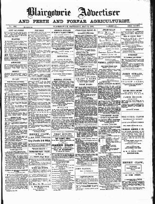 cover page of Blairgowrie Advertiser published on May 9, 1885