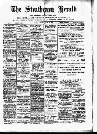 cover page of Strathearn Herald published on May 15, 1915