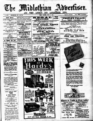 cover page of Midlothian Advertiser published on May 9, 1941