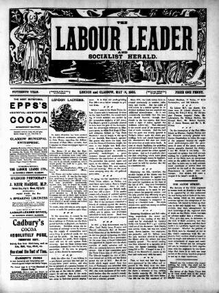 cover page of Labour Leader published on May 16, 1903