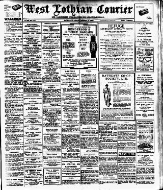 cover page of West Lothian Courier published on March 9, 1934