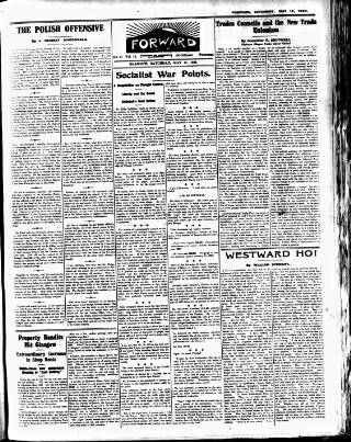 cover page of Forward (Glasgow) published on May 15, 1920