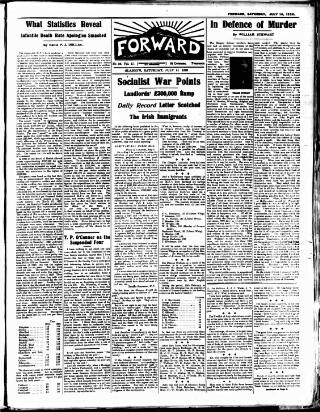 cover page of Forward (Glasgow) published on July 14, 1923