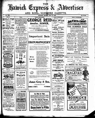 cover page of Hawick Express published on July 16, 1920