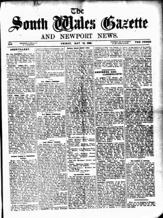 cover page of South Wales Gazette published on May 16, 1930