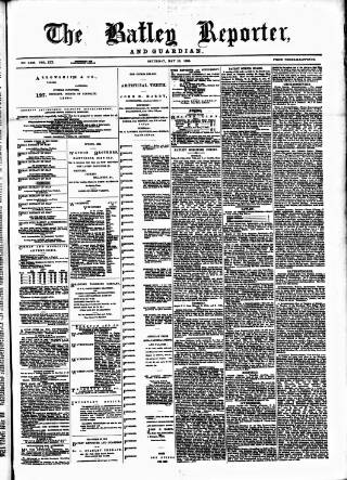 cover page of Batley Reporter and Guardian published on May 15, 1886