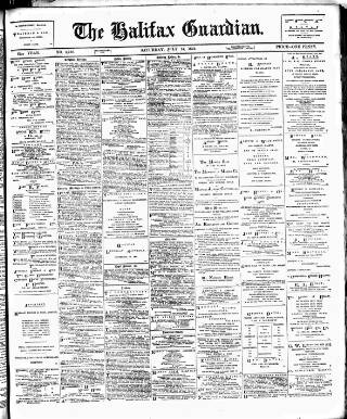 cover page of Halifax Guardian published on July 14, 1894