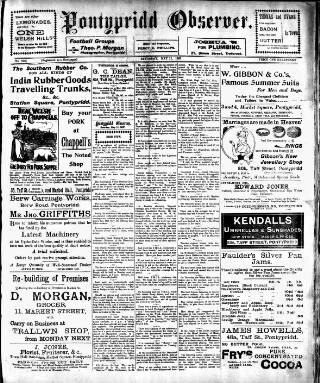 cover page of Pontypridd Observer published on May 11, 1907