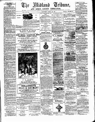 cover page of Midland Tribune published on July 11, 1891
