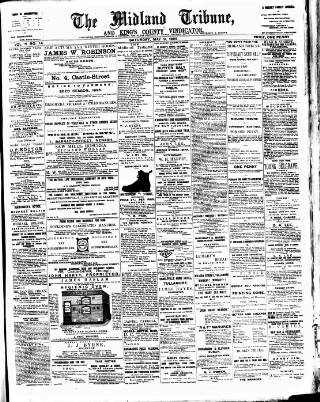 cover page of Midland Tribune published on May 9, 1896