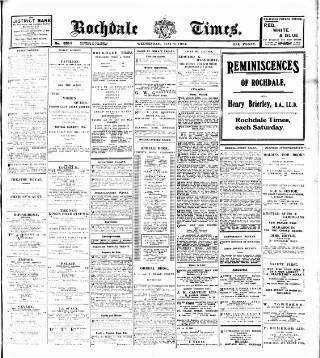 cover page of Rochdale Times published on May 9, 1923