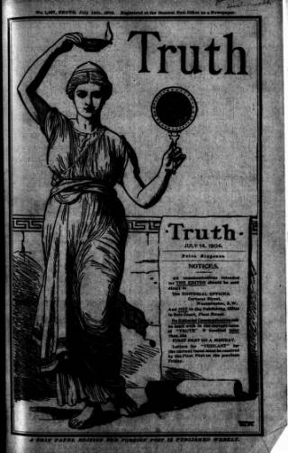 cover page of Truth published on July 14, 1904