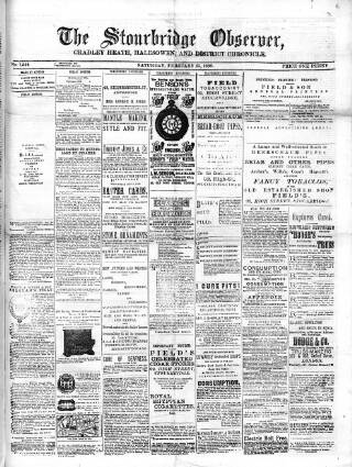 cover page of Cradley Heath & Stourbridge Observer published on February 25, 1888