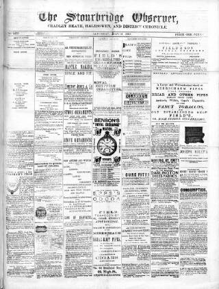 cover page of Cradley Heath & Stourbridge Observer published on May 12, 1888