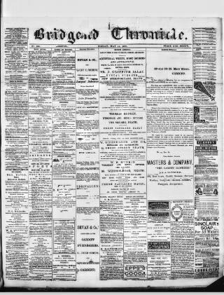 cover page of Bridgend Chronicle, Cowbridge, Llantrisant, and Maesteg Advertiser published on May 11, 1888